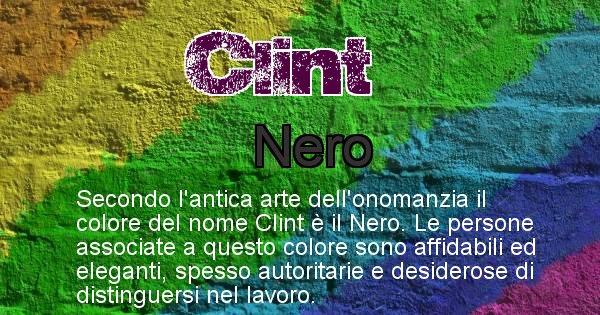 Clint - Colore corrispondente al nome Clint