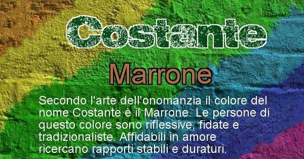 Costante - Colore corrispondente al nome Costante