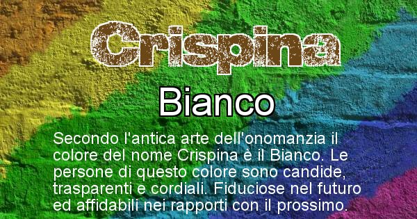 Crispina - Colore corrispondente al nome Crispina