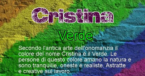 Cristina - Colore corrispondente al nome Cristina
