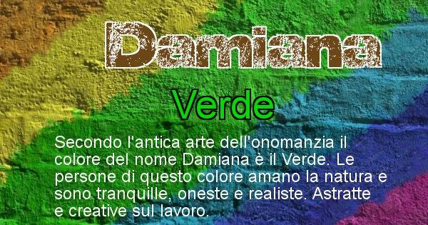 Damiana - Colore corrispondente al nome Damiana