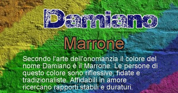 Damiano - Colore corrispondente al nome Damiano