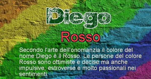 Diego - Colore corrispondente al nome Diego
