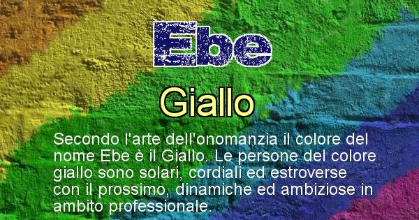 Ebe - Colore corrispondente al nome Ebe