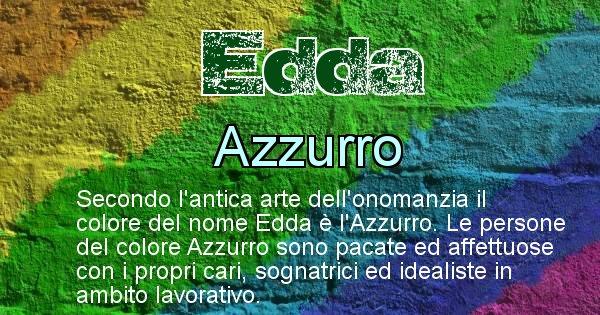 Edda - Colore corrispondente al nome Edda