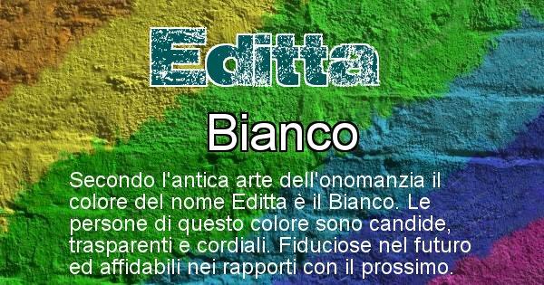 Editta - Colore corrispondente al nome Editta