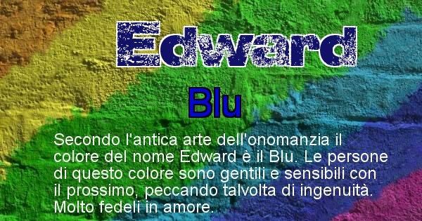 Edward - Colore corrispondente al nome Edward
