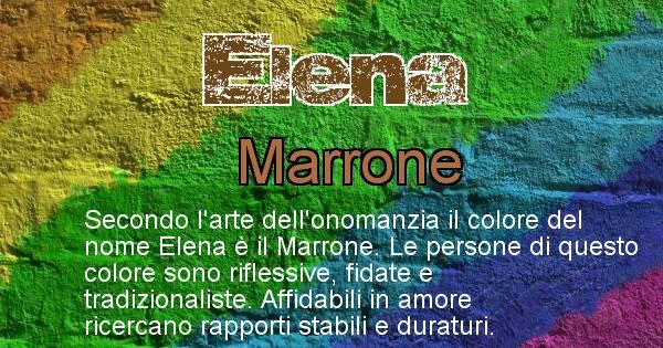 Elena - Colore corrispondente al nome Elena