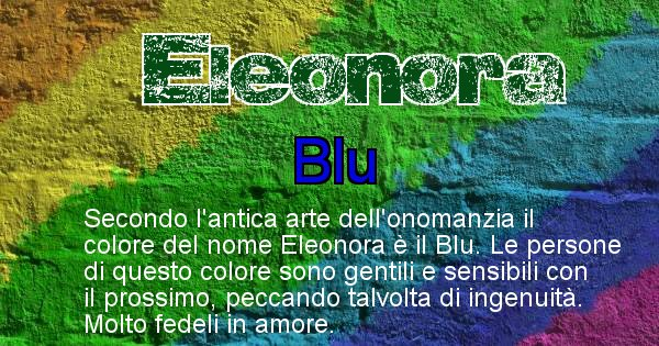 Eleonora - Colore corrispondente al nome Eleonora