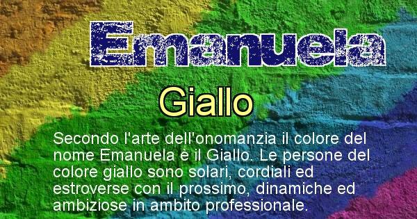 Emanuela - Colore corrispondente al nome Emanuela