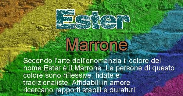 Ester - Colore corrispondente al nome Ester