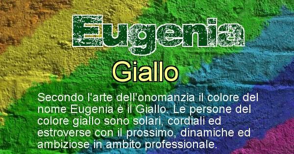 Eugenia - Colore corrispondente al nome Eugenia
