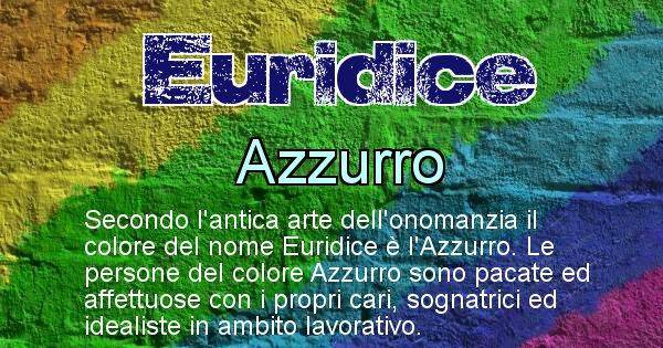 Euridice - Colore corrispondente al nome Euridice