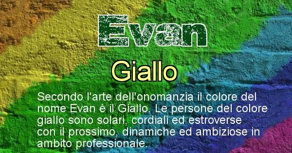 Evan - Colore corrispondente al nome Evan