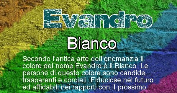 Evandro - Colore corrispondente al nome Evandro