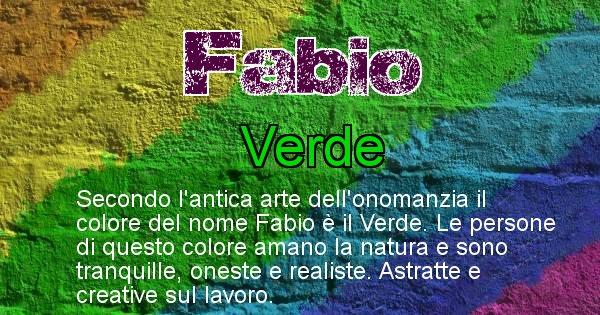 Fabio - Colore corrispondente al nome Fabio