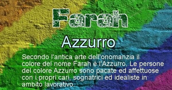 Farah - Colore corrispondente al nome Farah
