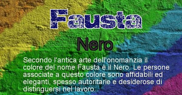 Fausta - Colore corrispondente al nome Fausta