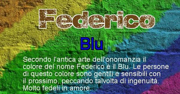 Federico - Colore corrispondente al nome Federico