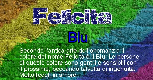 Felicita - Colore corrispondente al nome Felicita