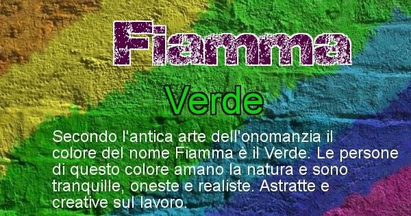 Fiamma - Colore corrispondente al nome Fiamma