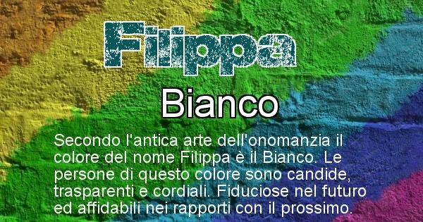 Filippa - Colore corrispondente al nome Filippa