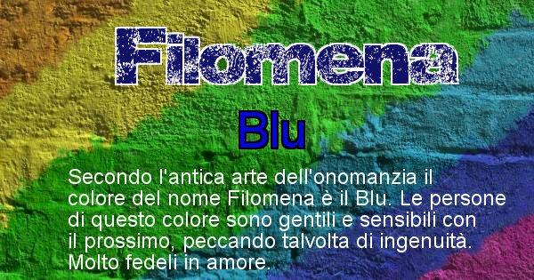 Filomena - Colore corrispondente al nome Filomena