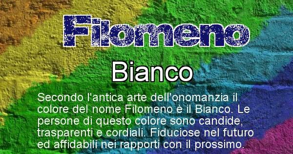 Filomeno - Colore corrispondente al nome Filomeno