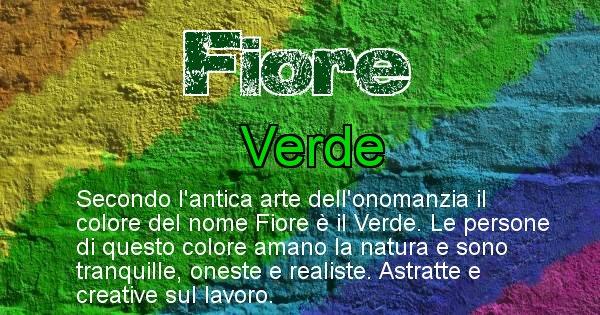 Fiore - Colore corrispondente al nome Fiore