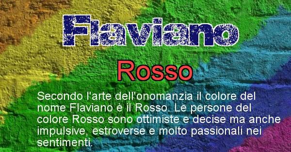 Flaviano - Colore corrispondente al nome Flaviano