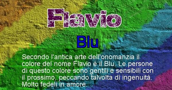 Flavio - Colore corrispondente al nome Flavio