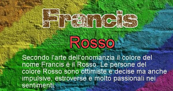 Francis - Colore corrispondente al nome Francis