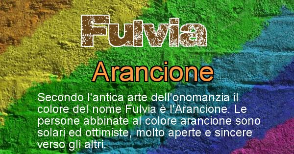 Fulvia - Colore corrispondente al nome Fulvia
