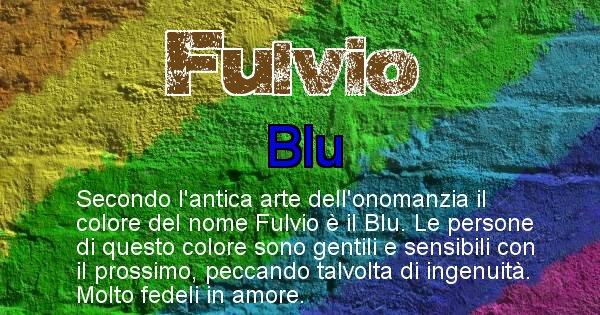 Fulvio - Colore corrispondente al nome Fulvio