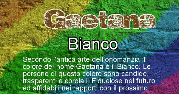 Gaetana - Colore corrispondente al nome Gaetana