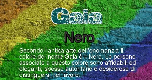 Gaia - Colore corrispondente al nome Gaia