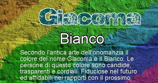Giacoma - Colore corrispondente al nome Giacoma