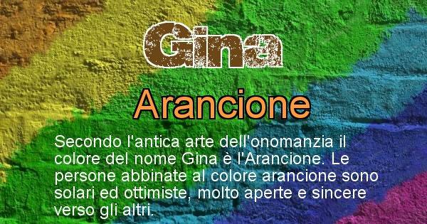 Gina - Colore corrispondente al nome Gina