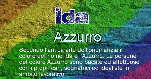 Ida - Colore corrispondente al nome Ida