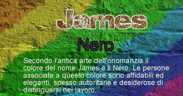 James - Colore corrispondente al nome James