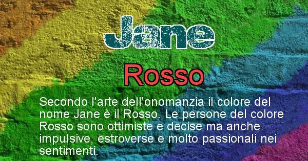 Jane - Colore corrispondente al nome Jane