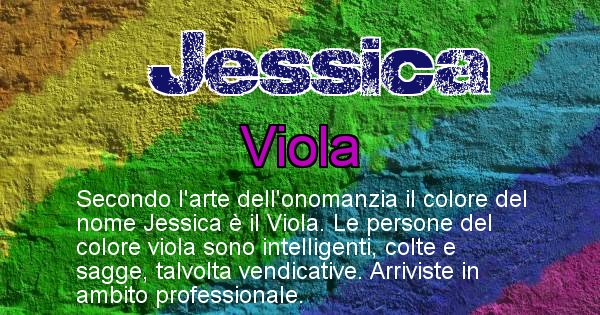 Jessica - Colore corrispondente al nome Jessica