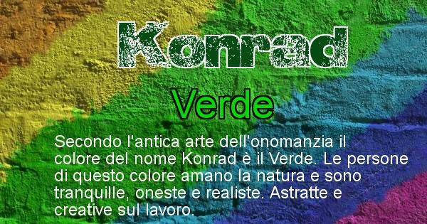 Konrad - Colore corrispondente al nome Konrad