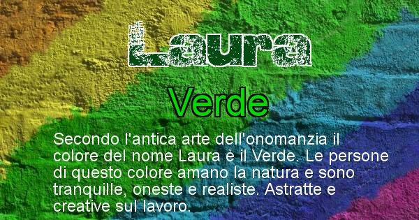 Laura - Colore corrispondente al nome Laura