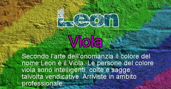Leon - Colore corrispondente al nome Leon
