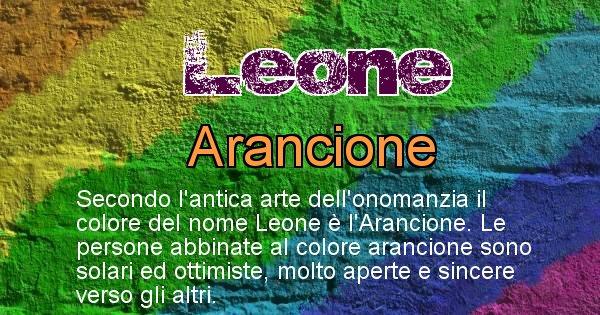 Leone - Colore corrispondente al nome Leone