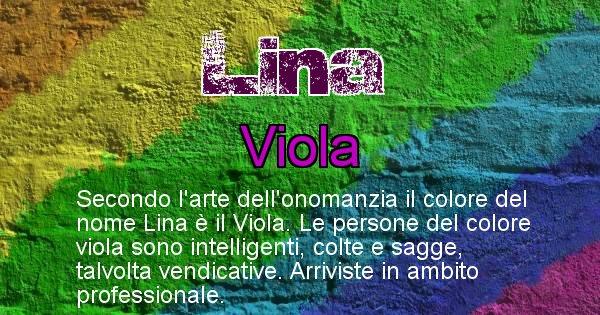 Lina - Colore corrispondente al nome Lina