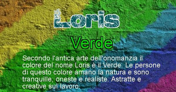 Loris - Colore corrispondente al nome Loris
