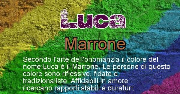 Luca - Colore corrispondente al nome Luca