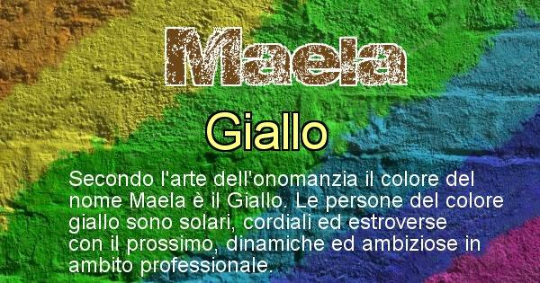 Maela - Colore corrispondente al nome Maela